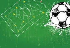 Шаблон дизайна футбола/футбола Стоковое фото RF