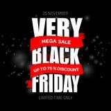 Шаблон дизайна черной надписи продажи пятницы самый лучший черная пятница Стоковые Изображения