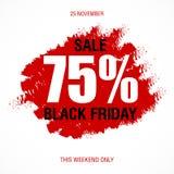 Шаблон дизайна черной надписи продажи пятницы самый лучший черная пятница Стоковые Фотографии RF