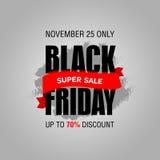 Шаблон дизайна черной надписи продажи пятницы самый лучший черная пятница Стоковая Фотография