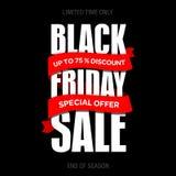 Шаблон дизайна черной надписи продажи пятницы самый лучший черная пятница Стоковое фото RF