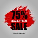 Шаблон дизайна черной надписи продажи пятницы самый лучший черная пятница бесплатная иллюстрация
