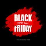 Шаблон дизайна черной надписи продажи пятницы самый лучший черная пятница Стоковое Изображение RF