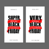 Шаблон дизайна черной надписи продажи пятницы самый лучший черная пятница иллюстрация вектора