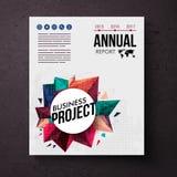 Шаблон дизайна для ежегодного бизнес-отчета Стоковые Фотографии RF