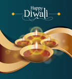 Шаблон дизайна Diwali бумаги вектора Стоковое фото RF