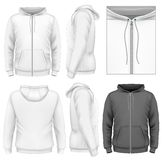 Шаблон дизайна hoodie застежка-молнии людей Стоковые Изображения