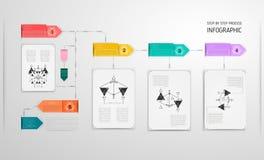 Шаблон дизайна Infographic, линейный тонкий первоначально стиль Стоковая Фотография RF