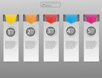 Шаблон дизайна Infographic, концепция дела с 5 вариантами, части, шаги или процессы Варианты концепции 5 дела, запас Стоковая Фотография