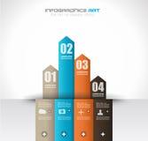 Шаблон дизайна Infographic с бумажными бирками Стоковое фото RF