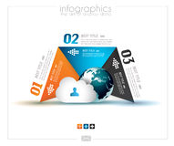 Шаблон дизайна Infographic с бумажными бирками Стоковые Изображения
