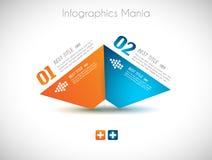 Шаблон дизайна Infographic с бумажными бирками Стоковые Изображения RF