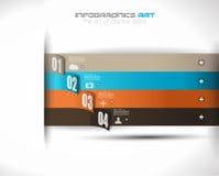 Шаблон дизайна Infographic с бумажными бирками Стоковая Фотография