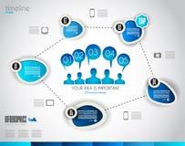 Шаблон дизайна Infographic с бумажными бирками Стоковые Фото