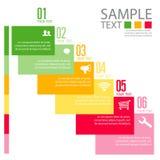 Шаблон дизайна Infographic с графической иллюстрацией комплекта элементов Файл вектора в слоях для легкий редактировать Стоковые Изображения RF