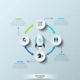 Шаблон дизайна Infographic бесплатная иллюстрация