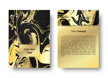 Шаблон листовки с мраморной картиной Стоковое Изображение