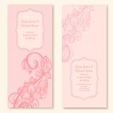 Шаблон карточек свадьбы с бабочкой и цветком Стоковое фото RF