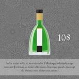 Шаблон карточки алкогольного напитка абсента бесплатная иллюстрация