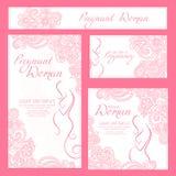 Шаблон карточки беременной женщины элегантный иллюстрация штока