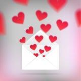 Шаблон карточки валентинки Стоковые Фотографии RF