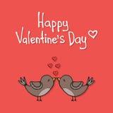 Шаблон карточки влюбленности дня валентинки Стоковая Фотография RF