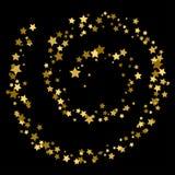 Шаблон карточки звезды золота Handmade ребяческий вортекс звезды золота иллюстрация вектора