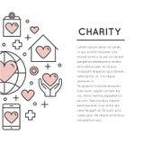 Шаблон карточки или плаката с призрением и fundraising возражает Стоковое Изображение