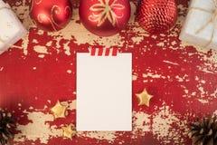Шаблон карточки концепции Нового Года рождества ретро Стоковая Фотография RF