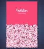 Шаблон карточки приглашения свадьбы с конспектом бесплатная иллюстрация