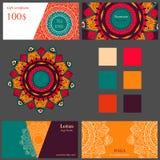 Шаблон карточки студии йоги Стоковое Изображение
