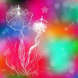 Шаблон карточки для дизайна с феями Стоковая Фотография