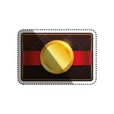 Шаблон карточки VIP Стоковые Изображения