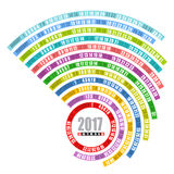 шаблон 2017 календарей спиральный Стоковая Фотография