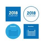 Шаблон календаря на декабрь 2018 бесплатная иллюстрация