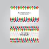 Шаблон комплекта карточки посещения иллюстрация штока