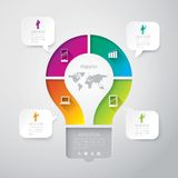 Шаблон конструкции Infographics Стоковая Фотография RF