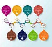 Шаблон конструкции Infographics стоковые изображения rf