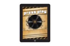 Шаблон концепции Musica app Стоковое Изображение