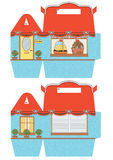 Шаблон коробки пирожного Стоковое Изображение