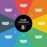 Шаблон красочной диаграммы представления головоломки нашивки полного фона infographic с объясняющим полем текста Стоковое Фото