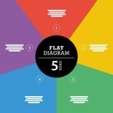Шаблон красочной диаграммы представления головоломки нашивки полного фона infographic с объясняющим полем текста Стоковая Фотография RF