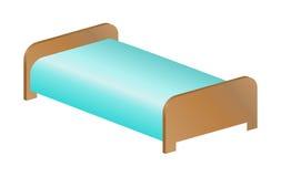 Шаблон кровати иллюстрация вектора