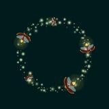 Шаблон круга светляка иллюстрация вектора