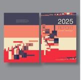Шаблон крышки брошюры с современными абстрактными элементами Стоковые Изображения RF