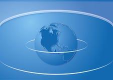 Шаблон крышки карты мира вектора Стоковые Фотографии RF