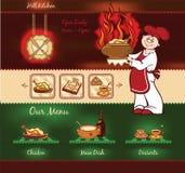 Шаблон кухни ада Стоковые Фото