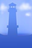 Шаблон маяка небесно-голубой Стоковое Изображение