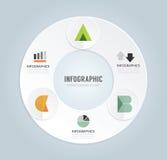 Шаблон минимального стиля современного дизайна infographic с алфавитом бесплатная иллюстрация