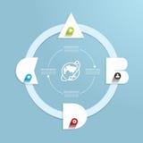 Шаблон минимального стиля современного дизайна infographic с алфавитом иллюстрация штока